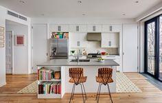 Modern Kitchen Design with Diamond Tile Backsplash!    on the blog now : )