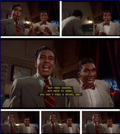 The Bingo Long Traveling All-Stars and Motor Kings (1976) Part IV…Charlie Snow aka Carlos Nevada (Richard Pryor) continues to teach the rookie Esquire Joe Calloway (Stan Shaw) the finer points of drinking