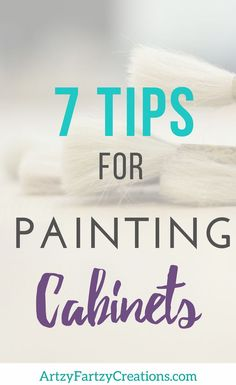 Thinking about changing the color of your bathroom or kitchen cabinets? Read these tips first. They will save you time and money and help you get the kitchen makeover you dream about! Cabinet Painting Tips + Cabinet Painting Tools by Cheryl Phan