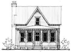Elevation of Country   Historic   House Plan 73843 Love this small and simple home floor plan