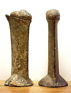 These undated chopines in the Bata Shoe Museum are one of only two existing pairs of chopines held in Venetian museums; they are also one of the tallest extant pairs