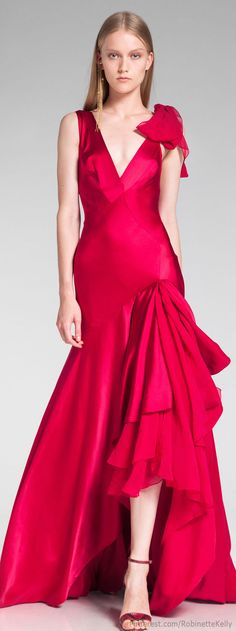 Donna Karan Resort 2014  beautiful rose color and not often seen on the runway