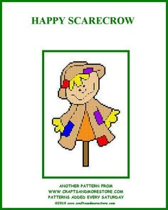HAPPY SCARECROW by JODY -- WALL HANGING 1/2