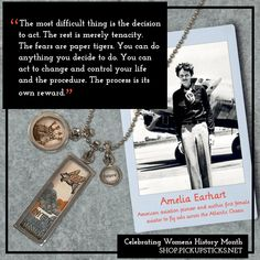 For women's history month, today we are celebrating Amelia Earhart, her achievements, and jewelry that matches her personality. Amelia Earhart Facts, Flight Lessons, Pick Up Sticks, National Geographic Society, You Can Do Anything, Women's History, Jewelry Companies, Celebrities, Facts About Amelia Earhart