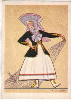 Stryjeńska Kaszubka rybaczka Great Paintings, Disney Characters, Illustration, Painting, Art, Aurora Sleeping Beauty, Traditional, Polish Traditional Costume, Folk