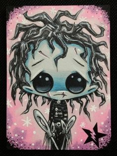 Sugar Fueled Edward Scissorhands lowbrow creepy by Sugarfueledart, $4.00