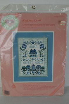 """#DIMENSIONS #FROM #THE #HEART """" #HOMESWEETHOME """" #NEEDLEPOINT #KIT #52051 #FREESHIPPING#Fromtheheart#Home#Sweet#Home#Crafts  #Dimensions"""