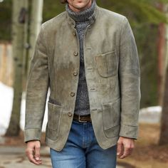 Shop Vintage suede pocket jacket online with high quality and hurry to get fashion on menilyshop.com quickly. Men's Coats And Jackets, Outerwear Jackets, Suede Jacket, Leather Jacket, Corduroy Jacket, Style Retro, Cotton Jacket, Men Casual, Man Shop