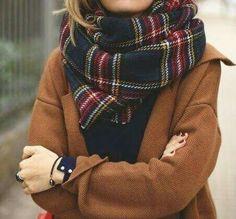 fashion, scarf, and outfit image Echarpe, Écharpe À Carreaux, Écharpe  Tartan, 906c75ad10d