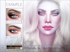 Sims 4 CC's - The Best: Muse Eyebrows by Pralinesims