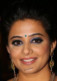 Tollywood Actress Priyamani Beautiful Earrings Oily Face Closeup Photos