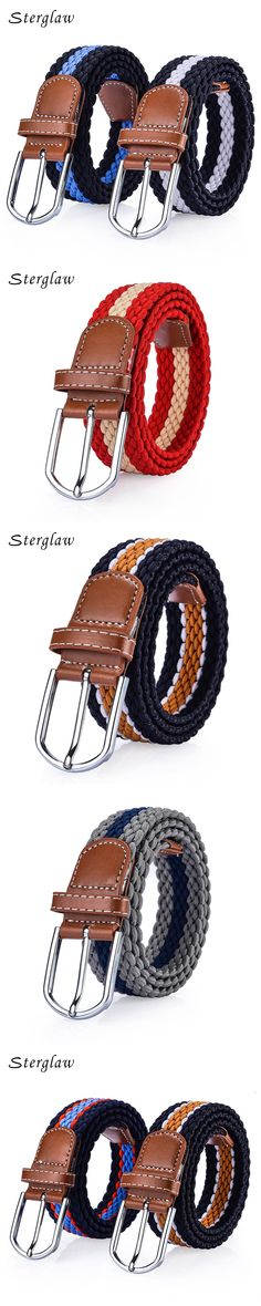 2017 Rushed New Arrival Fabric Men's Woven Elastic Belt Wide Male Cinturones Hombre Elastico Women's Braided Jeans Female B031