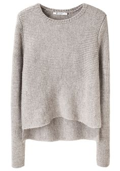 I cannot get enough of grey/grey marle sweaters...this is a lovely one by Alexander Wang.