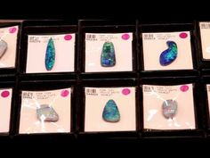 Grand Opal PTY. LTD showcases some of their fine opal products at the JOGS Tucson Gem and Jewelry Show. Grand Opal is an Australian opal manufacturing and exporting. They offer an extensive range of crystals, doublets and boulder opals.