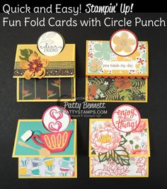 You are going to laugh when you watch my video today.. I was seriously intimidated by this Fun Fold card, and when Cindee taught me how to make it, I just laughed because it's so seriously easy!!!