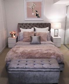design for small bedroom layout - design for small bedroom . design for small bedroom space saving . design for small bedroom diy . design for small bedroom ideas . design for small bedroom layout Bedroom Makeover, Gold Bedroom, Rose Gold Bedroom, Small Bedroom Designs, Small Room Bedroom, Apartment Decor, Woman Bedroom, Bedroom Decor, Remodel Bedroom