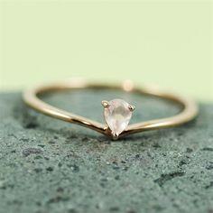 Pink Gold Heart Rose Quartz Ring