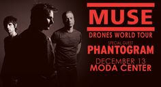 Muse (Moda Center, Portland, OR, December 13, 2015). Visually stunning, Sonic sound.