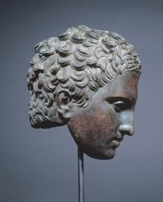 bronze head of an athlete, roman, c. probably after lysippos (greek, BC), (photo: kimbell art museum) Ancient Rome, Ancient Greece, Ancient Art, Ancient History, Roman Sculpture, Sculpture Art, Sculpture Portrait, Roman History, Art History