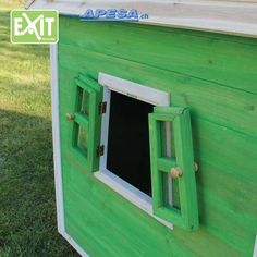 Exit Spielhaus Fantasia 100 von APESA Shed, Outdoor Structures, Design, Fantasy, Wooden Playhouse, Games, Sheds, Tool Storage