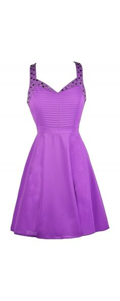 Lily Boutique Purple Reign Embellished Party Dress, $34 Purple Party Dress, Purple Beaded Dress, Cute Purple Dress, Purple Embellished Dress, Bright Purple Dress, Purple A-Line Dress, Purple Cocktail Dress www.lilyboutique.com