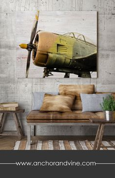*´¨) ¸.•´¸.•*´¨) ¸.•*¨) (¸.•´ (¸.•` ♥ ABOUT THIS DESIGN: This airplane is laid against a soft white textured wood grain background. Contact us if you would like a different background. *´¨) ¸.•´¸.•*´¨) ¸.•*¨) (¸.•´ (¸.•` ♥ CANVAS / PRINT QUALITY & DETAILS: All of our canvases are professionally printed in our Orange County print shop. Canvases are hand-stretched over quality wood frames that will not warp or bend over time, and are also sprayed with a protective laminate ...