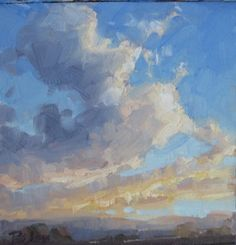 Skyscape cloud oil landscape painting -- Becky Joy