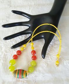 Tropical Bold and Bright Summer Necklace by GemsbyJoniH on Etsy