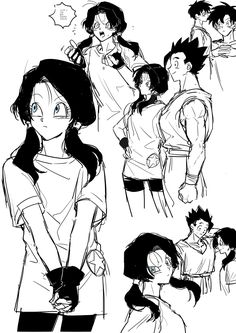 Dragon Ball Z, Dragon Ball Image, Videl Dbz, Goku, Manga Art, Anime Art, Kai, Best Waifu, Character Drawing