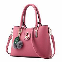 a4e24dff22d3 New Arrival 2017 Women Fashion Handbags Pu Leather Shoulder Lady Bags  Messenger Big Leisure Handbag for