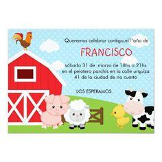 Shop Farm Birthday Invitation - Boy (Blue) - Barnyard created by CallaChic. Boy Birthday Invitations, Party Invitations, Doodle Doo, Farm Birthday, Birthday Ideas, Farm Party, Graduation Announcements, Gifts For Dad, Holiday Cards