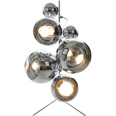 Tom Dixon Mirror Ball Tripod Stand and Lamps (7 425 AUD) ❤ liked on Polyvore featuring home, lighting, tripod lamp, tom dixon, tom dixon lamp, clamp lamp and stainless steel lamp