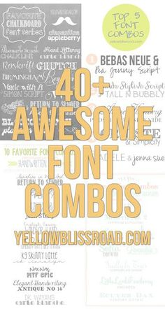 Yellow Bliss Road: Vintage & Retro Inspired Free Font Combinations