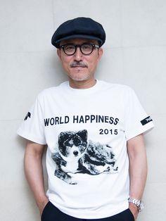 山本耀司の愛犬が主役 ワールドハピネス2015のTシャツ発売