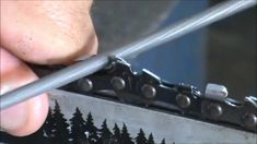 How to sharpen a chainsaw See description for link to file kit