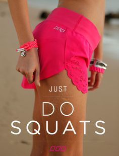 Don't cry and do squats.
