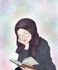Free Anime Photos and Seo Tutorials Girl Cartoon, Cartoon Art, Hijab Drawing, Islamic Cartoon, Bff Drawings, Anime Muslim, Hijab Cartoon, Reading Art, Cute Cartoon Wallpapers