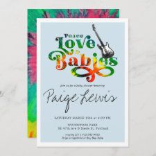 Tie Dye baby shower invitations featured at Retro Invites. Stop by to see them all! #tie #dye #tiedye #baby #shower #invitations Angel Baby Shower, Baby Shower Fall, Baby Shower Parties, Baby Shower Themes, Baby Boy Shower, Baby Shower Decorations, Baby Showers, Shower Ideas, Hippie Baby