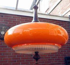 Oranje vintage design hanglamp