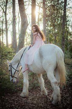 Savannah Wedding Photographer | children's portrait - little girl pose - little girl with horse - Southern photography - country portrait - enchanting - princess