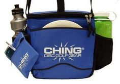 Ching Starter Bag - Blue by Ching. $14.95. Feature-packed!...this bag will carry 12 discs or 12 beverage cans (or various combinations). Tumble resistant rectangular insulated construction includes adjustable shoulder strap, padded liner, expanding mesh side pockets with elastic trim, front putter sleeve with full size logo, folding top flap with velcro tab and dual zippers, durable textured pvc bottom, metal 'D' rings, and detachable clip-on Mini Bag.  Discs and bottles not in...