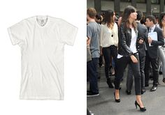 The classic white tee is a more diverse garment than one would think. V-neck, cropped, or loose and louche—there are variations that suit nearly every ensemble whether you're wearing it with your favorite jeans or tulle ball skirt. And while we are ease our way into the cooler temps, the tee becomes the best foundation for layering. From biker babe toughness to red carpet ready, we've rounded up the 10 best styles for all of your style needs