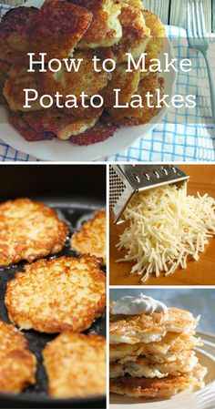 Learn how to make crispy potato latkes for Hanukkah.