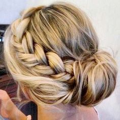 Magnificent Easy Hairstyles for Work – Messy Bun with Accent Braid – Quick and Easy Hairstyles For The Lazy Girl. Great Ideas For Medium Hair, Long Hair, Short Hair, The Undo and ..