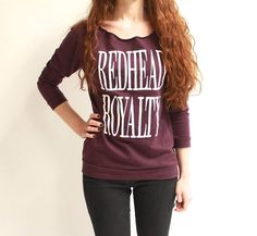 A+must+for+every+redhead's+fall+wardrobe. Sizes+run+true+to+size. Check+your+t-shirt+size+with+our+sizing+chart+above. Return+Policy:+We+stand+behind+everything+we+sell. Red Hair Don't Care, Red Shop, Natural Redhead, Classy Outfits, Classy Clothes, Kid Styles, Fall Wardrobe, Redheads, Fashion Forward