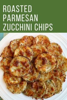 Roasted Parmesan Zucchini Chips are a healthy and tasty snack. They are made wit… Roasted Parmesan Zucchini Chips are a healthy and tasty snack. They are made with flour, parmesan cheese, and egg. Easy and delicious! Parmesan Zucchini Chips, Zuchinni Chips, Roasted Zucchini Recipes, Zucchini Crisps, Recipe Zucchini, Parmesan Recipes, Yummy Snacks, Healthy Snacks, Healthy Recipes