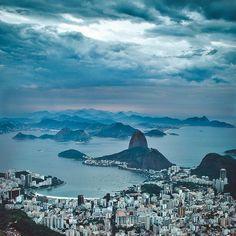 """""""Baía de Guanabara"""". Rio de Janeiro, Brasil."""