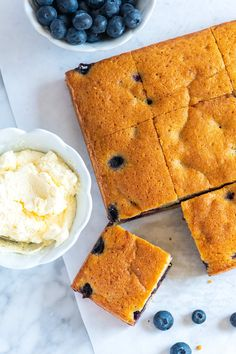 Inspired by pound cake, this blueberry cake has a tender, rich and buttery crumb.