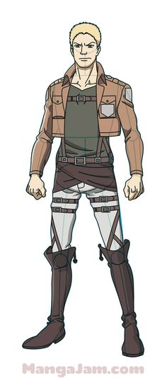 How to Draw Reiner Braun from Attack on Titan Anime Drawings Sketches, Cool Sketches, Manga Drawing, Comic Con Costumes, Cosplay Costumes, Popular Manga, Attack On Titan Levi, Manga Characters, Step By Step Drawing