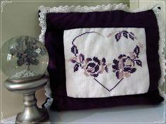 SALE  Handmade Purple Velvet Pillow  by AWONDERLANDOFMINE on Etsy